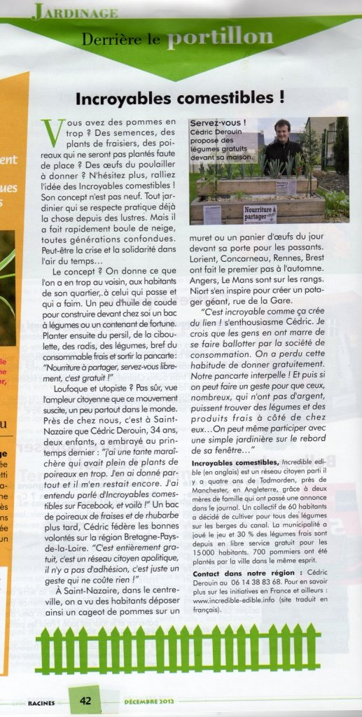 Racines (décembre 2012, N°232) dans Revue de Presse ic003
